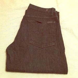 7 for all Mankind Men's Austyn Midnight Blue Jeans