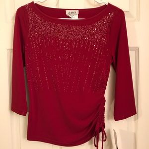 New with tags A. Byer 3/4 sleeved formal top