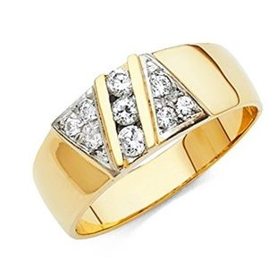 Jewelry - 14k Yellow Gold SOLID Men's Wedding Band