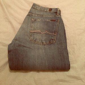 "7 for all Mankind Men's Austyn Blue Jeans 32"""