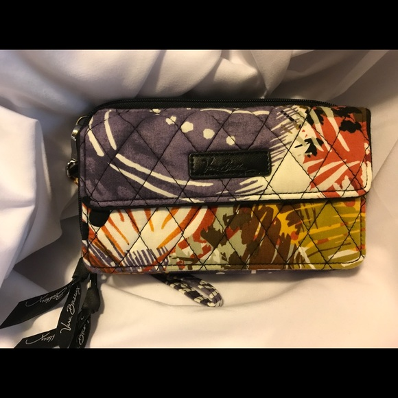 a5678bec6a1b Vera Bradley Painted Feathers All in One Crossbody