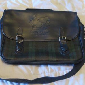 Sanrio Snoopy Vintage Messenger Bag Plaid for sale