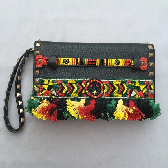 0441b7da32 Valentino Bags | New Rockstud Beaded Jamaican Clutch | Poshmark