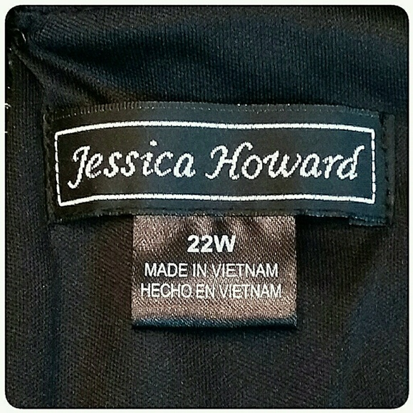 Jessica Howard Dresses - Plus-Size Jessica Howard Black Dress Size 22W