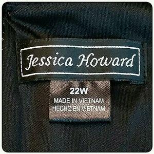 Jessica Howard Dresses - Plus-Size Jessica Howard Black Dress Size 22W
