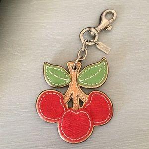 COACH cherry key chain