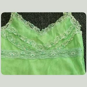 Sugarlips Tops - Sugar Lips Lime Green Bead Sequin  Camisole Small