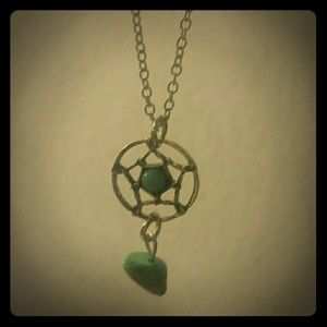Jewelry - NWOT Silver & Turquoise Dreamcatcher Necklace