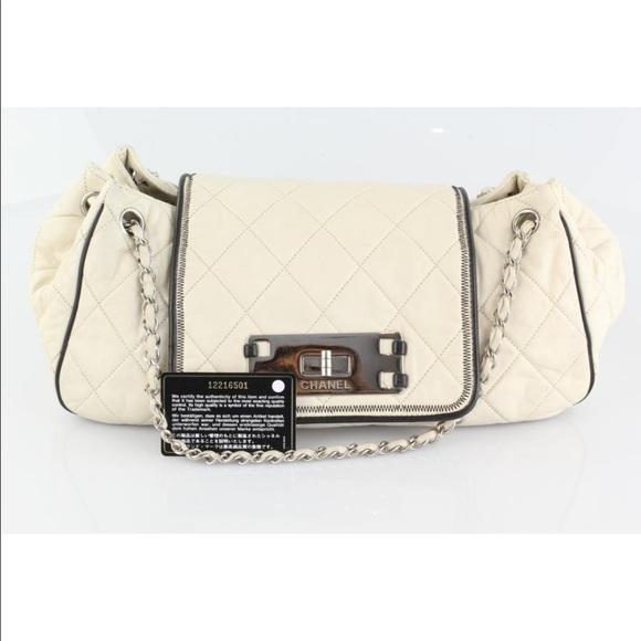 8d159f75d2ec CHANEL Handbags - Chanel East West Accordion Flap Shoulder Bag