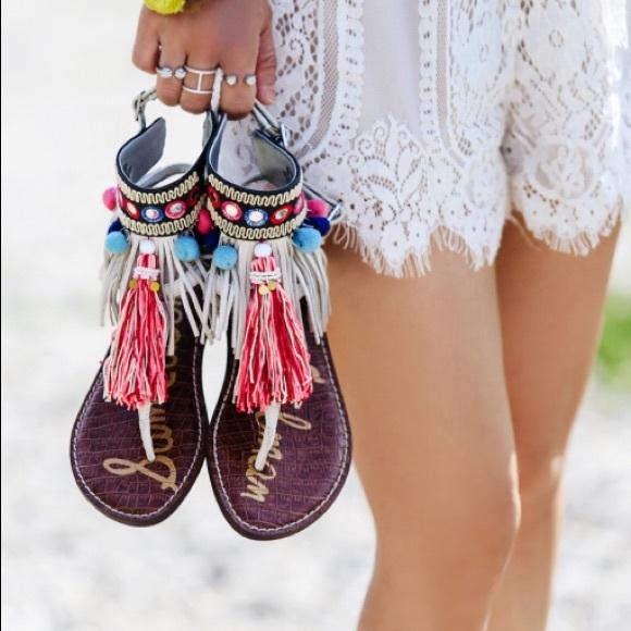 b9d4d6e58c46 Sam Edelman Gere fringe tassel sandal. M 59a5825a36d59405a400e1a8