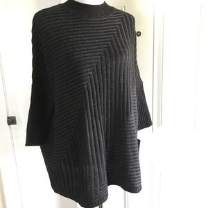 AB Studio oversized cable dolman sleeve sweater