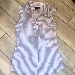 Purple/White Stripes Tank Blouse - BR