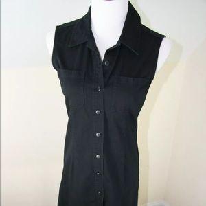 Casual Corner shirt dress Sz 2 sleeveless FLAW