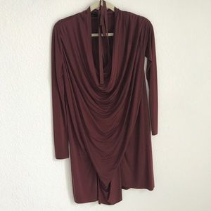"Burgundy ""Amei"" Dress"
