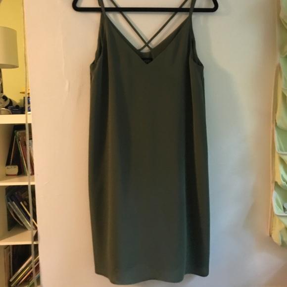 dd85234a6ffeb Topshop Dresses | Olive Green Slip Dress | Poshmark