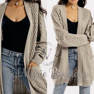 📍3 LEFT📍Knitted Taupe Cardigan