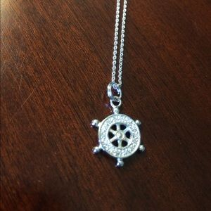 Jewelry - Ships wheel sterling silver necklace