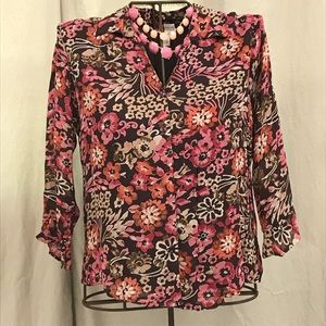Jennifer Moore floral blouse