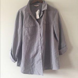 ⭐️NWT roz & ali shirt size L