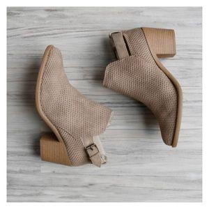 Shoes - ✨Flash Sale✨- Vegan Suede Ankle Booties
