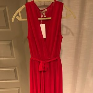 Dresses & Skirts - Red Wrap Gown Sheer