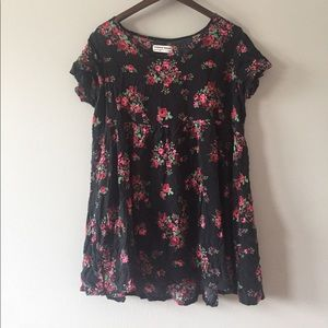 american apparel floral tunic top size M/L