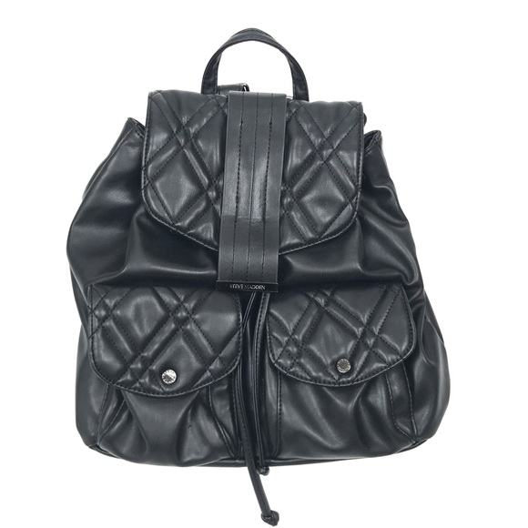 Steve Madden - Steve Madden Faux Leather Quilted Backpack Medium ... : leather quilted backpack - Adamdwight.com