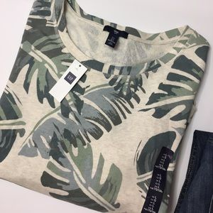 GAP Tops -  GAP Banana leaf print terry sweatshirt.