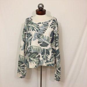 GAP Tops -  GAP Banana leaf print terry sweatshirt.