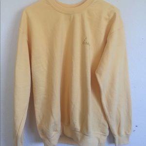 Brandy Melville Tops Erica Honey Embroidered Sweatshirt Poshmark