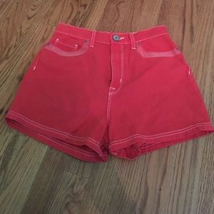 Pants - Red orange BDG high waisted denim shorts