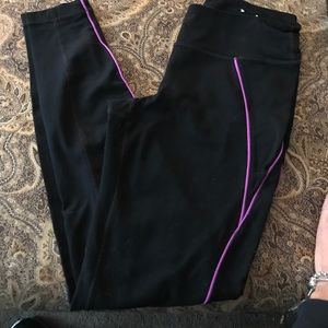 Pants - Target Active Black Workout Pant w/ Purple Stripe