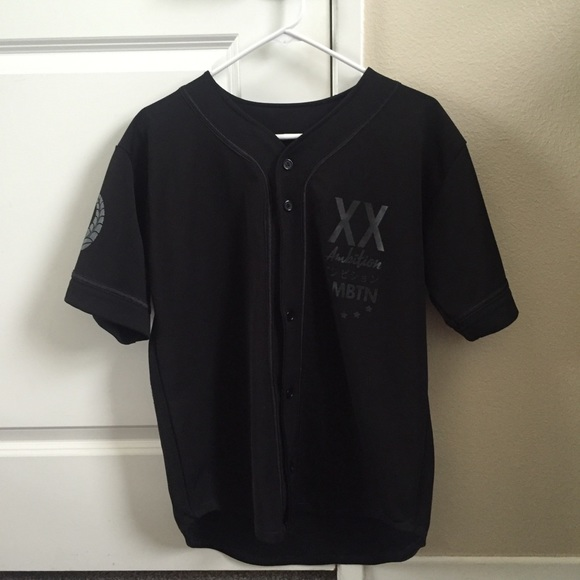 72% off Other - Ambition Apparel Baseball Jersey matte black from ...