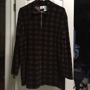 Cozy Velour Half Zipper Pullover