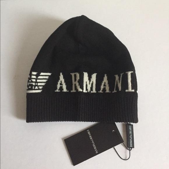 b9182084114 Emporio Armani Men Wool Beanie Hat