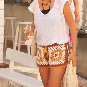 5c90ed48 Zara Shorts - Zara crochet tassel shorts