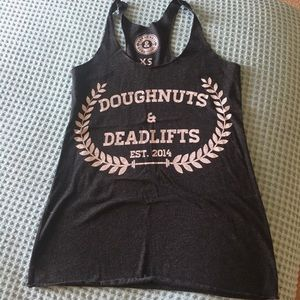 Crossfit Doughnuts and deadlifts tank size xs