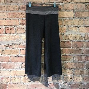 Lululemon multi gray cropped pant sz 2