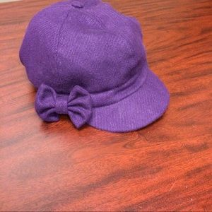Accessories - Purple Cabbie Style Hat