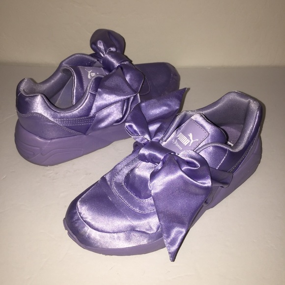 new york e9b9c 3d769 Puma x Fenty Rihanna Purple Bow Sneakers 6.5