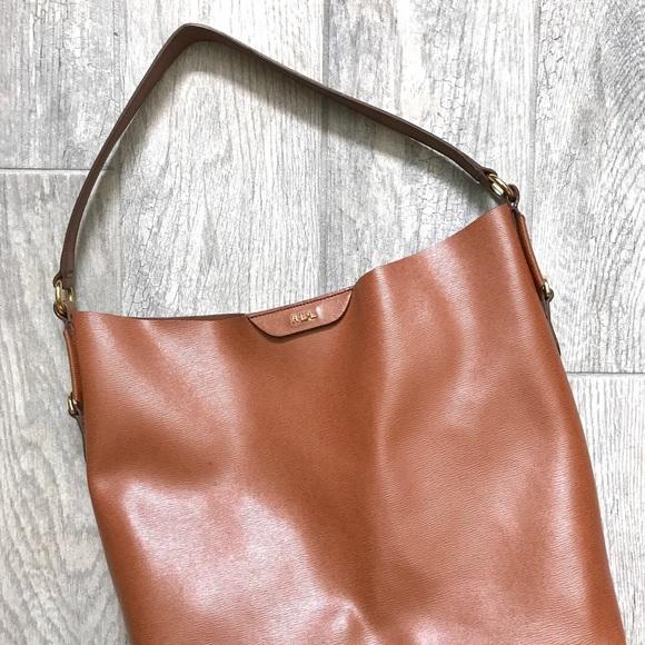 Ralph Lauren camel brown color bucket style purse.  M 59a5c54ff739bc6dd601df44 147a7ffdb4310