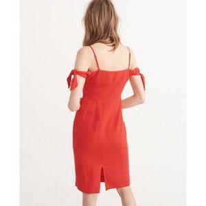 0e9a88100e05 Abercrombie & Fitch Dresses | Tie Shoulder Midi Dress | Poshmark