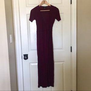 Plum Wrap Dress