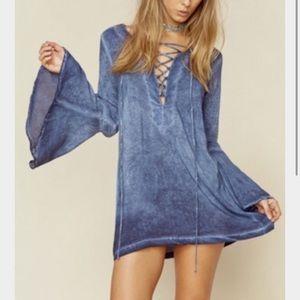 Blue Life lace up tunic dress