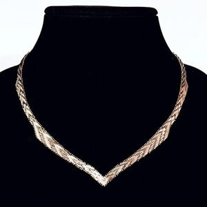 Jewelry - Chevron Riccio Italy handmade sterling necklace