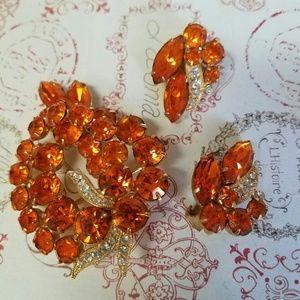 ⭐️FIRM⭐️Eisenberg Ice brooch/ earrings set