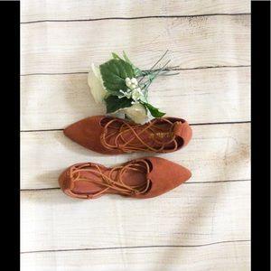 Shoes - 🌿LACE UP FLATS🌿