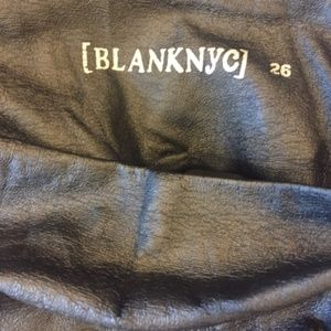Blank NYC Pants - Blank NYC Faux Leather Leggings (Size 26)