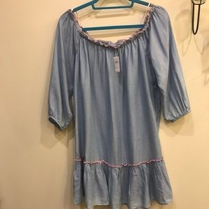 Size M Aerie Chambray Off the Shoulder