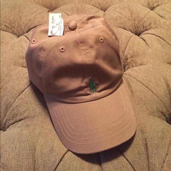 60053824f NWT Polo Ralph Lauren boys 8-20 tan baseball cap.